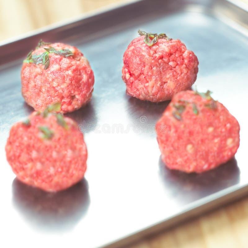 Esferas de carne foto de stock royalty free