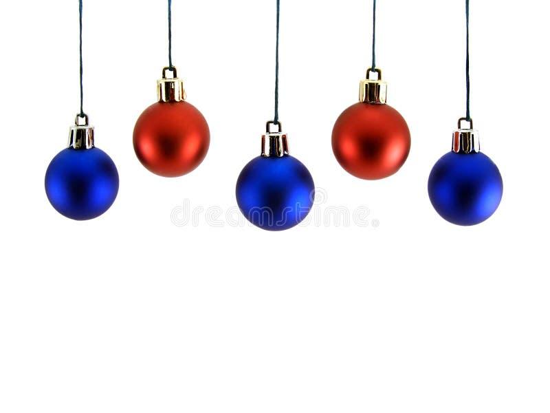 Esferas de Christmast fotografia de stock