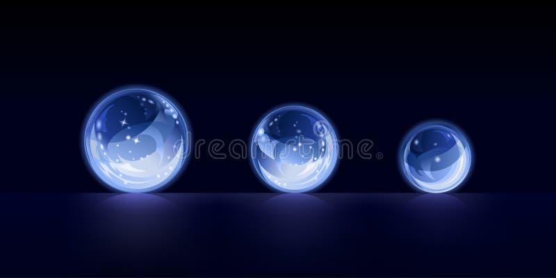 Esferas de cristal ilustração royalty free