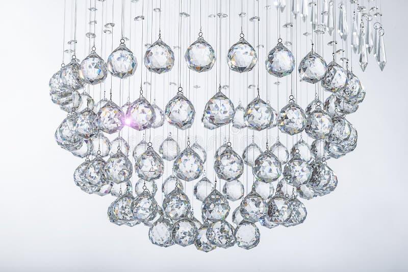 Esferas de cristal de suspensão imagem de stock