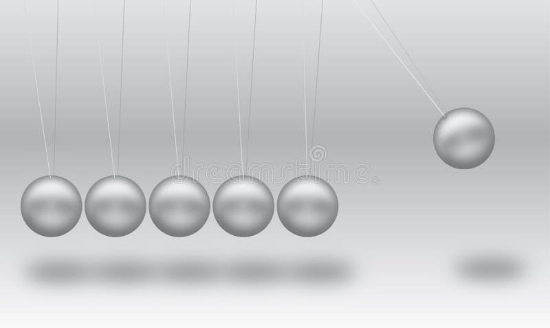 Esferas de equilíbrio de Newton ilustração stock