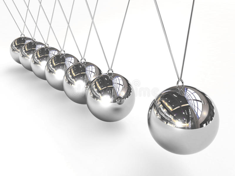 Esferas de equilíbrio do berço de Newton ilustração do vetor