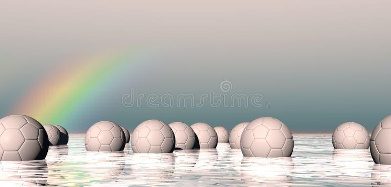 Esferas de flutuação abstratas ilustração stock