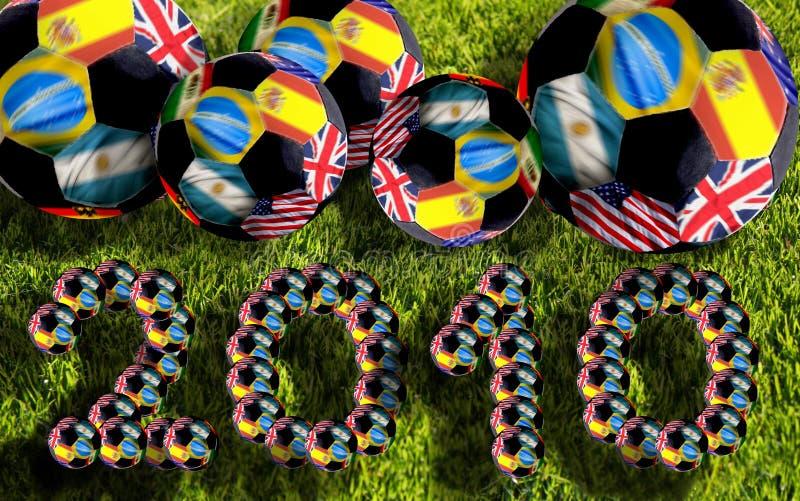 Esferas de futebol, África do Sul 2010 foto de stock