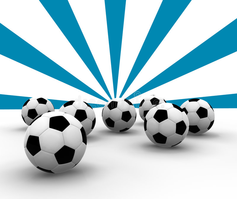 Esferas de futebol ilustração stock