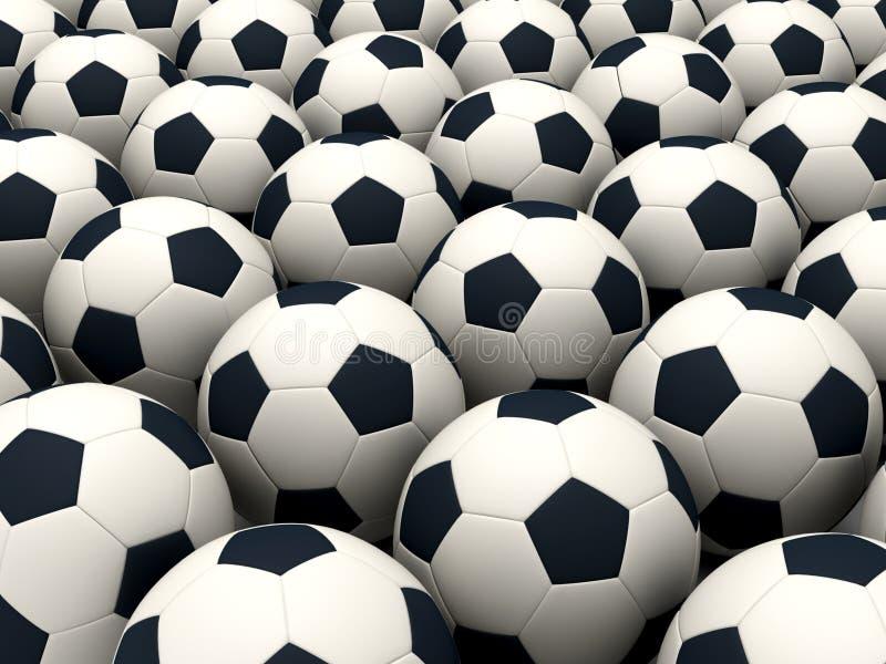 Esferas de futebol ilustração do vetor