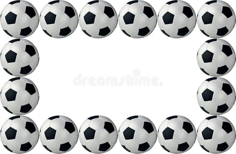 Esferas de futebol quadro ilustração royalty free