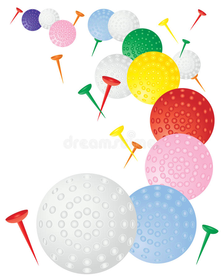 Esferas de golfe ilustração stock