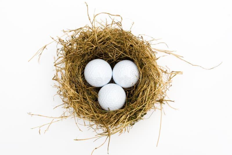 Esferas de golfe imagens de stock royalty free