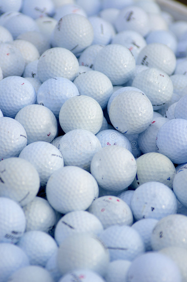 Esferas de golfe Assorted imagens de stock royalty free