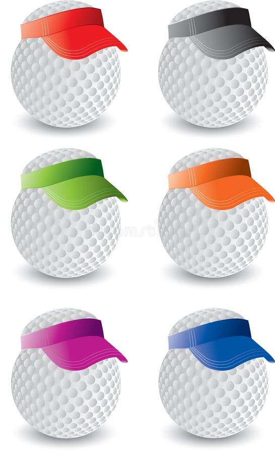Esferas de golfe diminuto ilustração stock