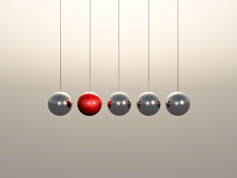 Esferas de la horquilla de Newton stock de ilustración