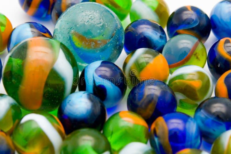 Esferas de mármore coloridas fotos de stock royalty free