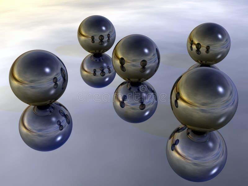 Esferas de metal ilustração stock