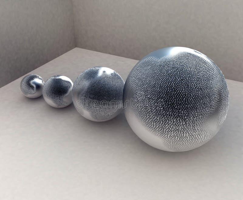Esferas de metal ilustração royalty free
