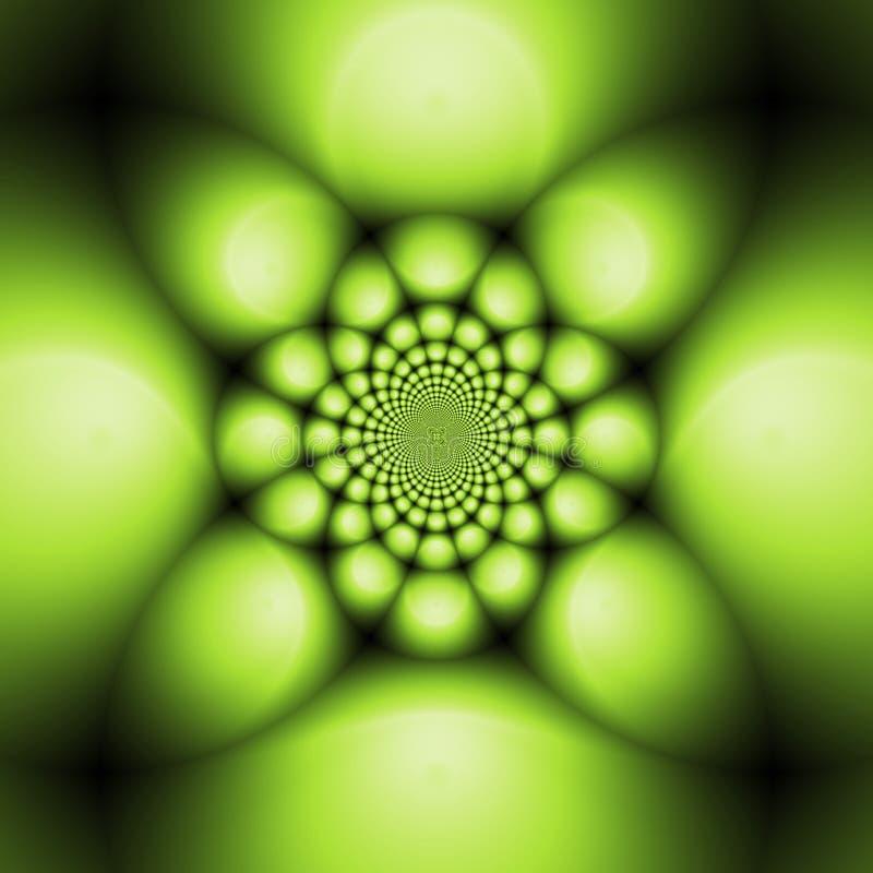 Esferas de metal verdes ilustração do vetor