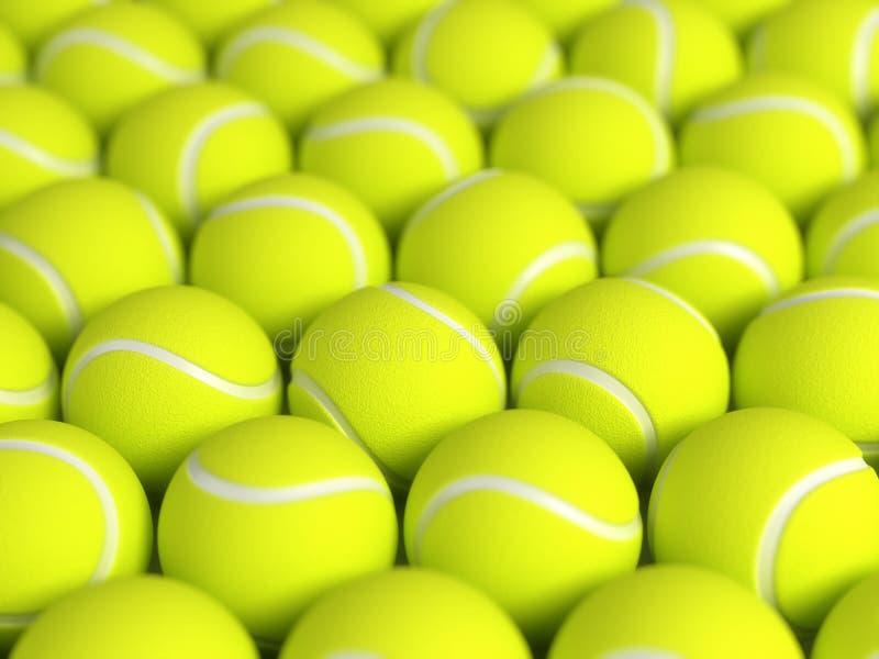 Esferas de tênis ilustração do vetor