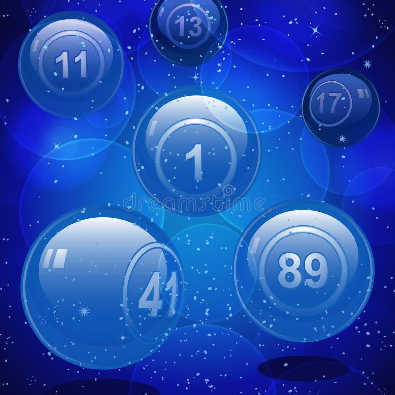Esferas de vidro da lotaria do bingo ilustração do vetor