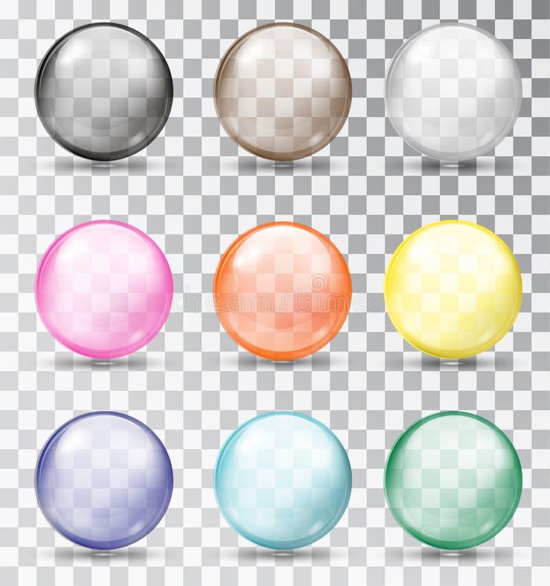 Esferas de vidro Multi-colored Ilustração do vetor ilustração royalty free