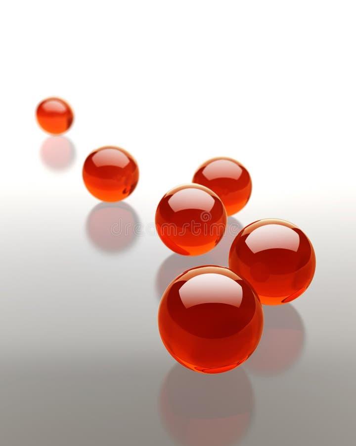 Download Esferas de vidro vermelhas ilustração stock. Ilustração de esfera - 10057743