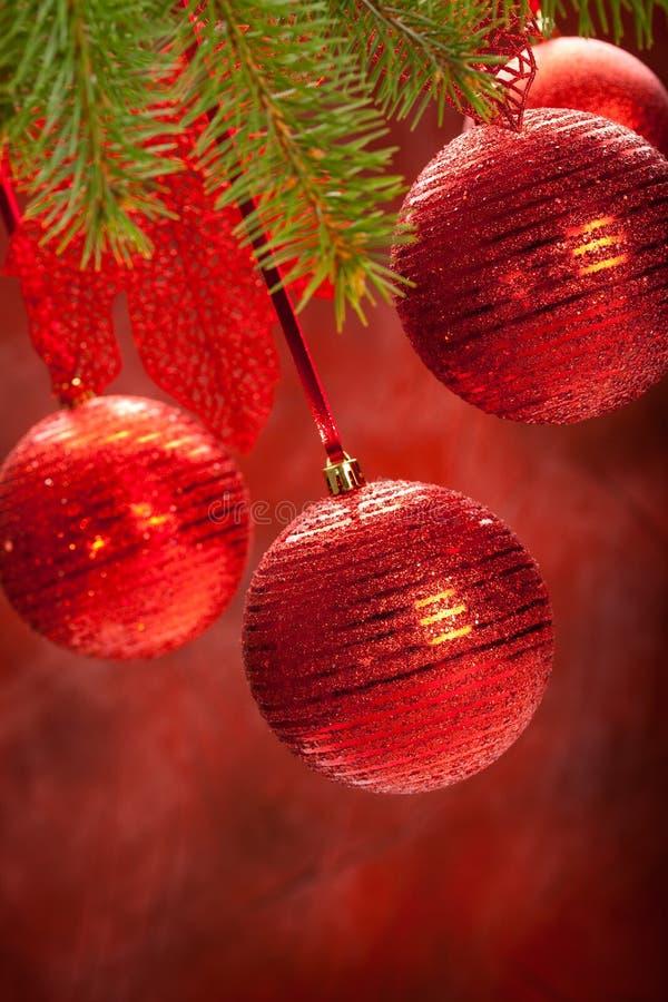 Esferas - decoração do Natal imagens de stock royalty free