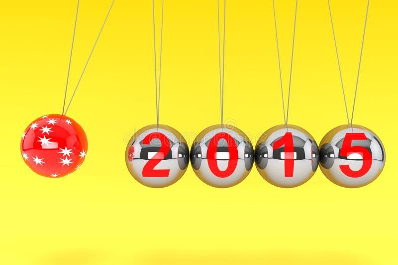 Esferas del Año Nuevo de Newton libre illustration