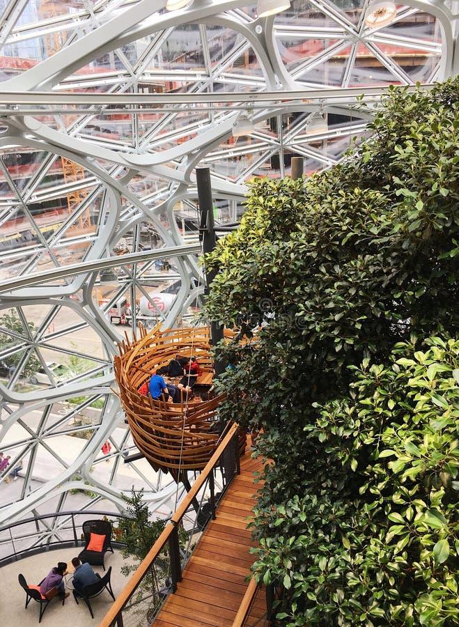 Esferas del Amazonas en Seattle, Washington foto de archivo libre de regalías