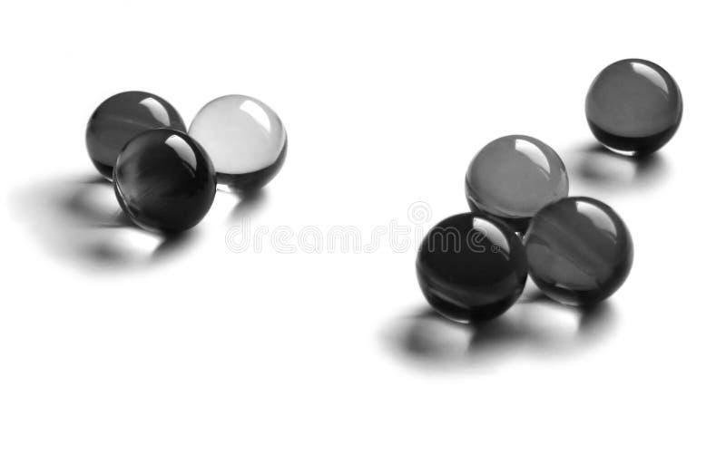 Esferas do banho de B&w imagens de stock