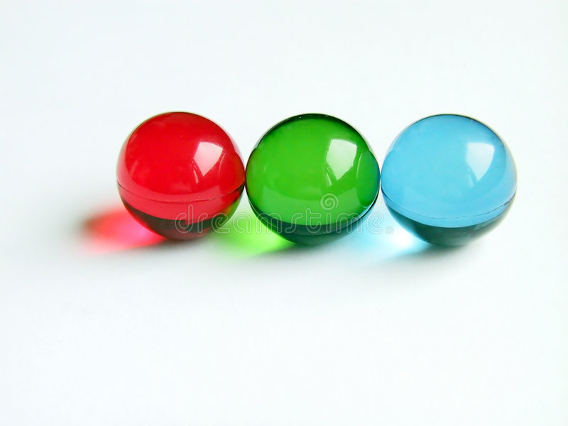 Esferas do banho do RGB imagens de stock