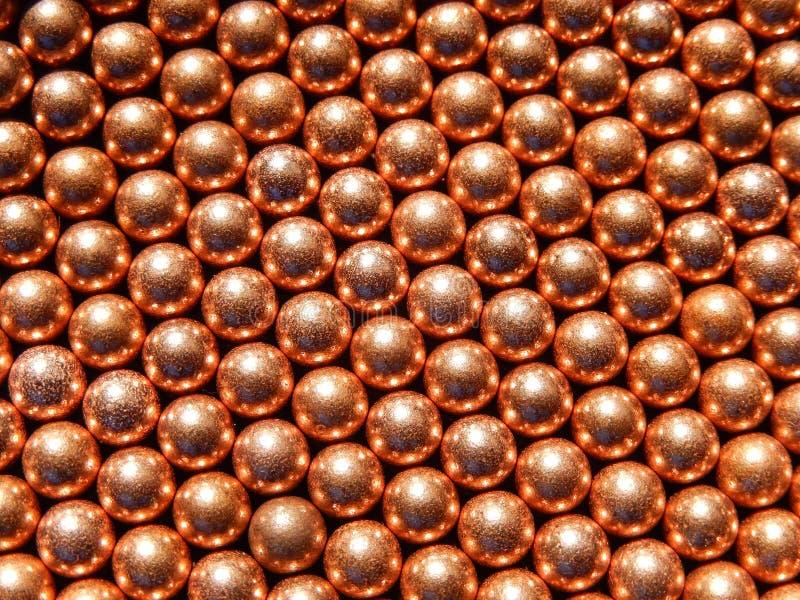 Esferas do BBS das esferas dos mármores das bolas do bronze ou do cobre imagem de stock