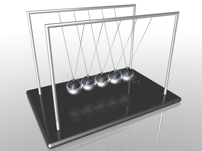 Esferas do berço de Newton ilustração do vetor
