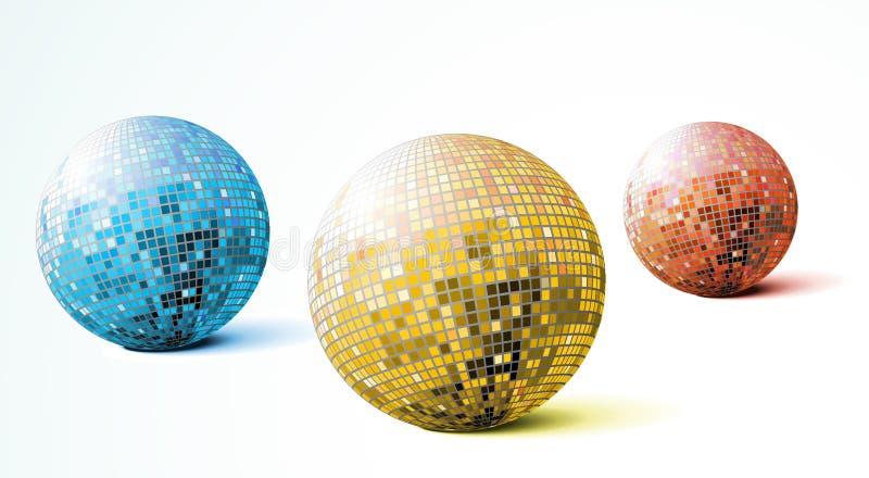 Esferas do disco ilustração royalty free