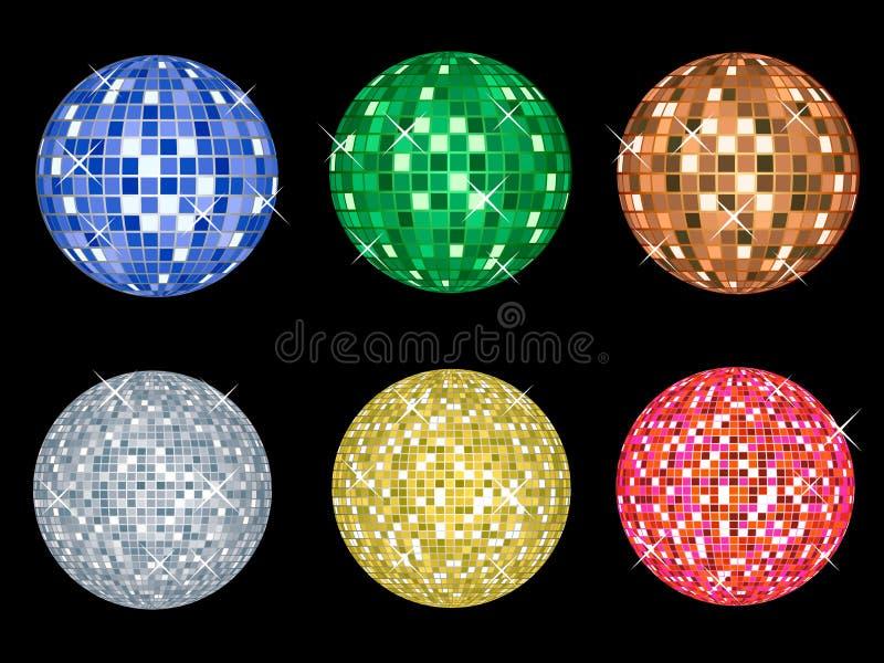 Esferas do disco ilustração stock