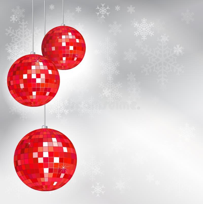 Esferas do disco do Natal ilustração royalty free