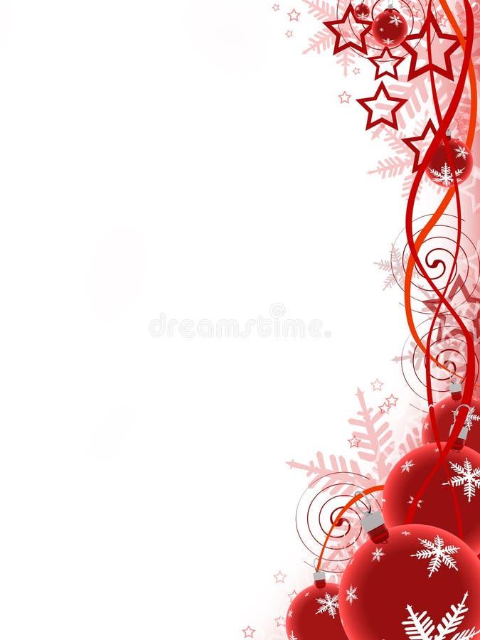 Esferas do Natal ilustração royalty free