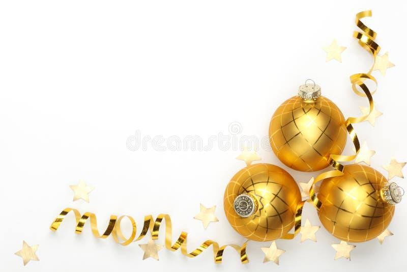 Esferas do Natal com fita foto de stock royalty free