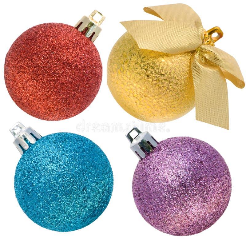 Esferas do Natal com um jogo da superfície áspera imagem de stock royalty free