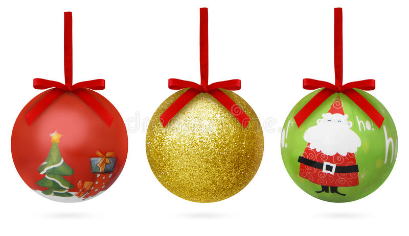 Esferas do Natal de Colorated fotografia de stock royalty free