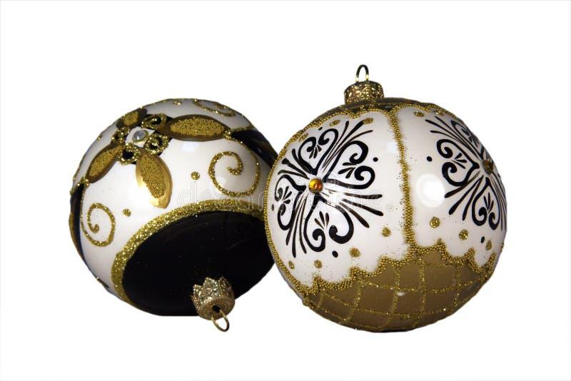Esferas do Natal do ouro fotografia de stock