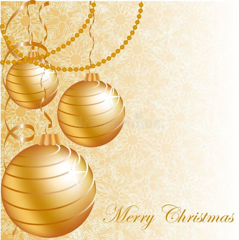 Esferas do Natal do ouro imagens de stock