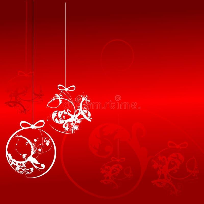 Esferas do Natal - fundo do ornamento floral ilustração stock
