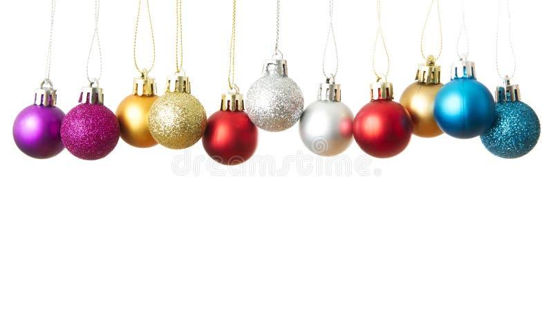 Esferas do Natal isoladas em um fundo branco fotos de stock