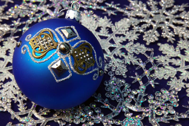 Esferas do Natal para uma pele-árvore imagem de stock royalty free