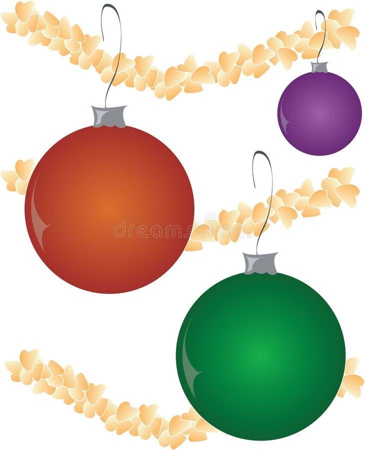 Esferas do ornamento do Natal ilustração royalty free