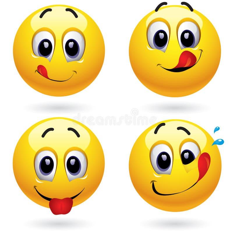 Esferas do smiley ilustração do vetor