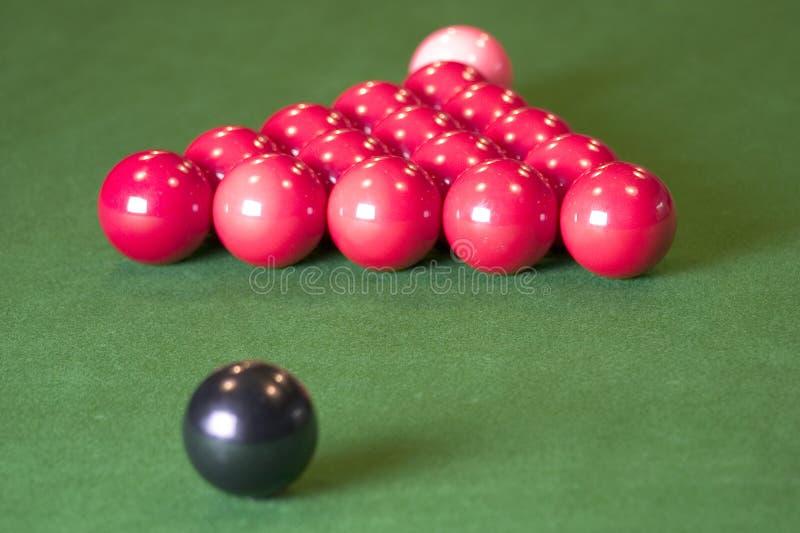 Esferas do Snooker fotografia de stock royalty free