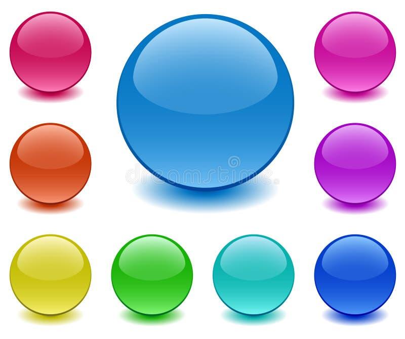Esferas do vidro à terra ilustração royalty free