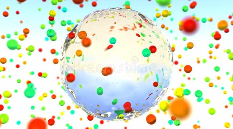 esferas do vidro da cor ilustração stock