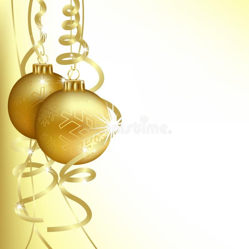 Download Esferas douradas do Natal ilustração do vetor. Ilustração de abstraction - 16874472