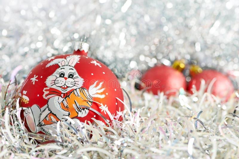Esferas e ouropel do Natal fotografia de stock royalty free